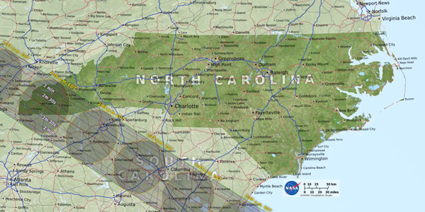 image of north carolina map