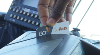 Swiping GoPass on bus